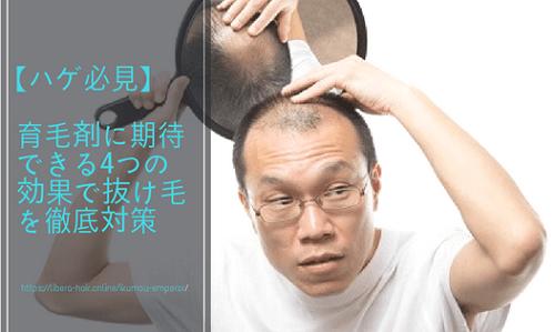 【ハゲ必見】育毛剤に期待できる4つの効果で抜け毛を徹底対策