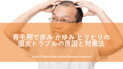 育毛剤で頭皮にトラブルが起きる原因と対策法(赤み・かゆみ・ヒリヒリ編)