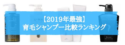 【2019最新】育毛シャンプー比較ランキング(男性向け)
