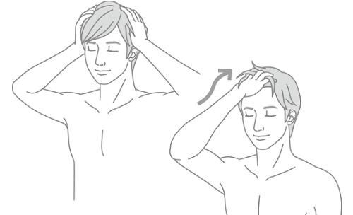 STEP1.髪を濡らす前にもつれを取る